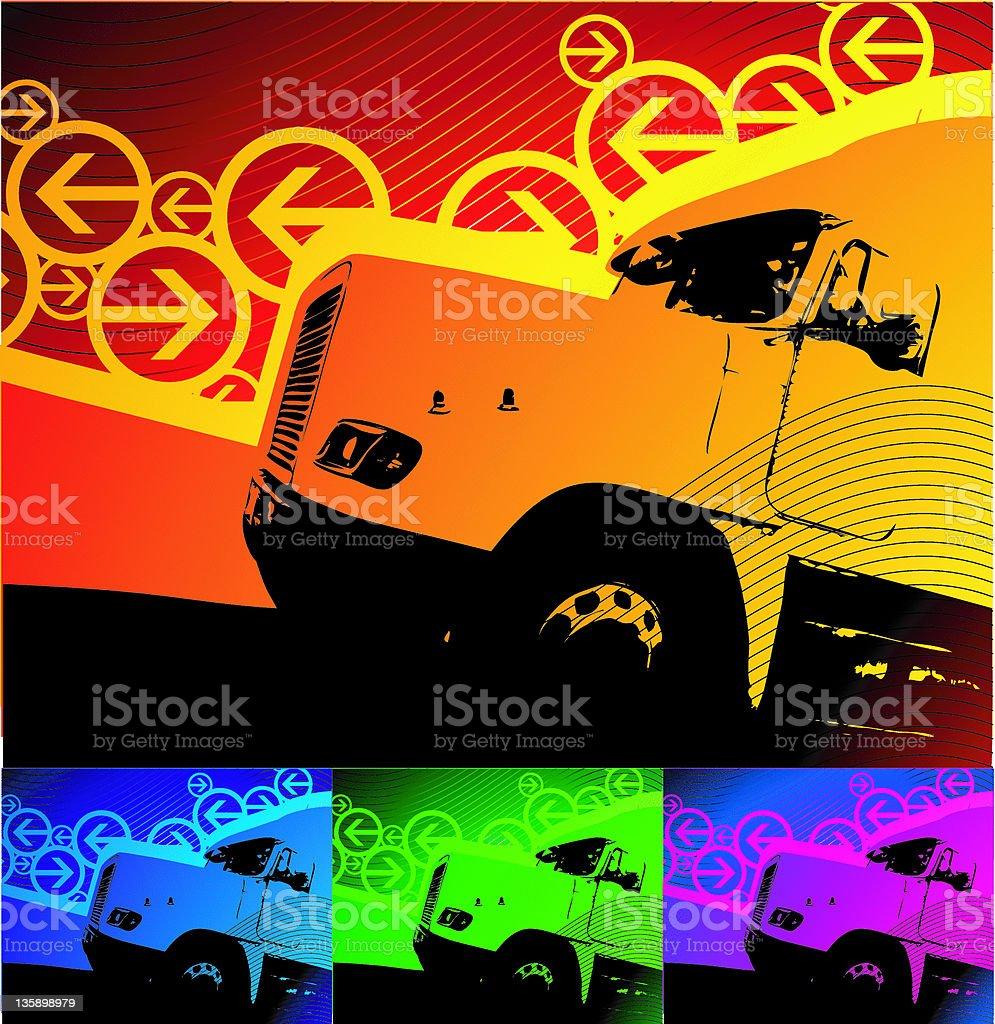 transportation background (vector) royalty-free stock vector art