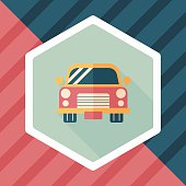Transportation car flat icon with long shadow,eps10