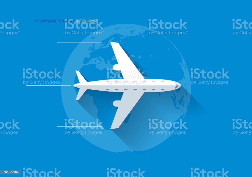 Transportation Concept - Airplane vector art illustration