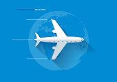 Transportation Concept - Airplane