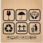 Transportation, delivery icon set vector illustration