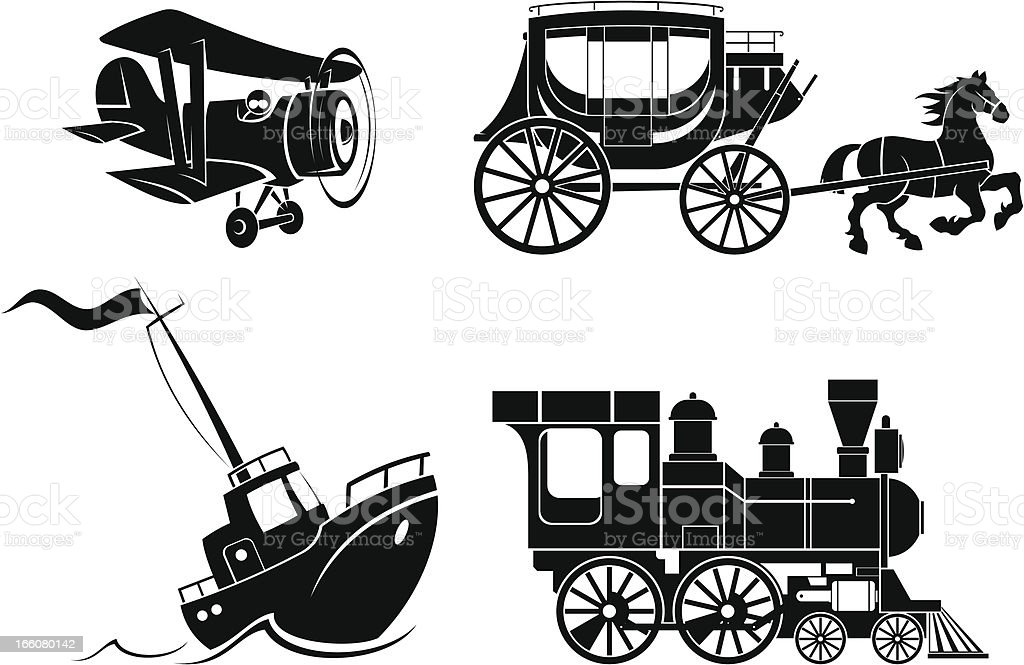 Transportation facilities icons set royalty-free transportation facilities icons set stock vector art & more images of airplane