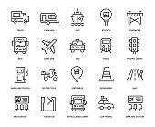Transportation Icon Set - Thin Line Series