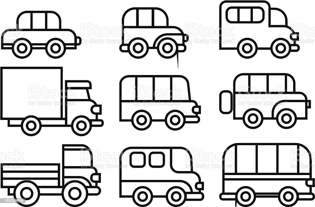 transportation icon vector art illustration