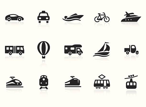 illustrations, cliparts, dessins animés et icônes de icônes de transport 2 - voilier à moteur