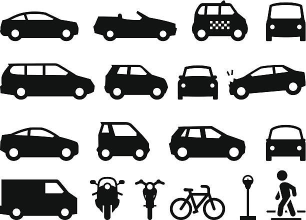 Royalty Free Vehicles And Transportation Silhouettes Clip