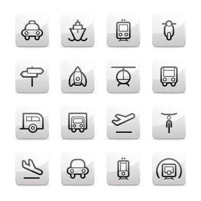 transportation icons | Contour B series