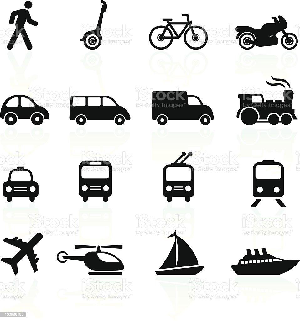 Transportation icons design elements vector art illustration