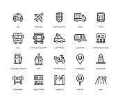 istock Transportation Icons - Line Series 1056786198