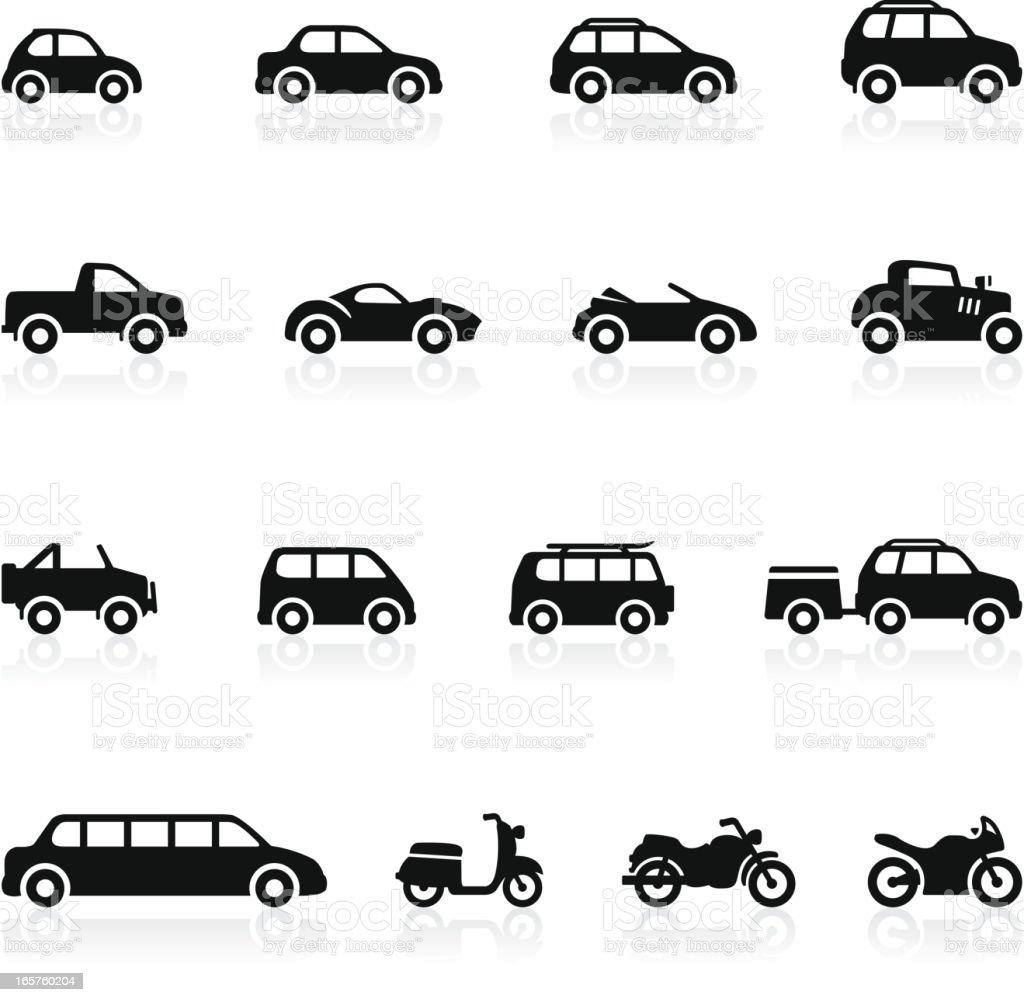 Transportation icons - Set 2 vector art illustration
