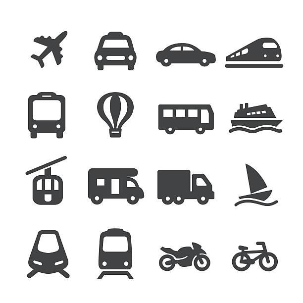 zestaw ikon transportu - seria acme - przewóz stock illustrations