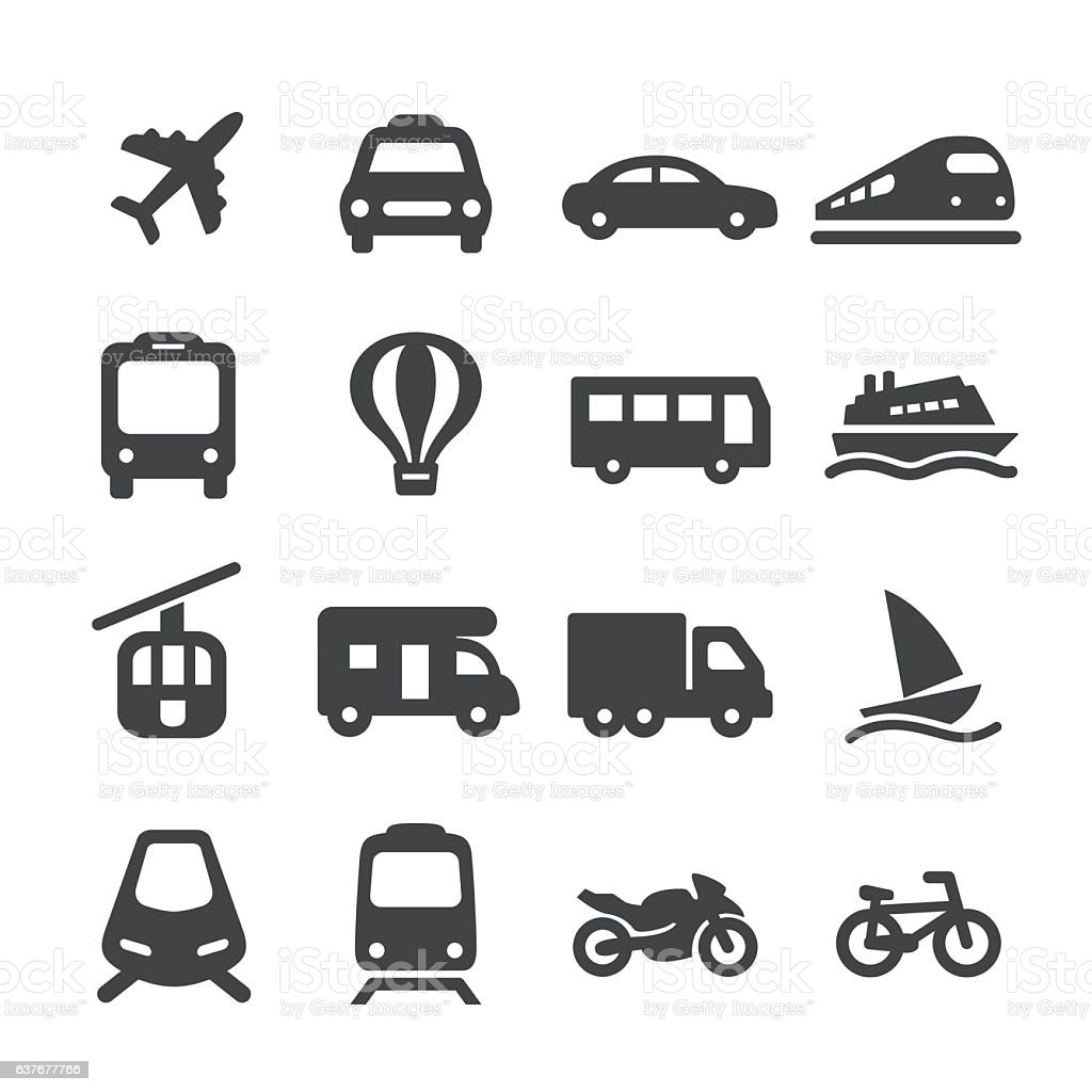 Transportation Icons Set - Acme Series vector art illustration