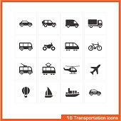 Transportation icons set.