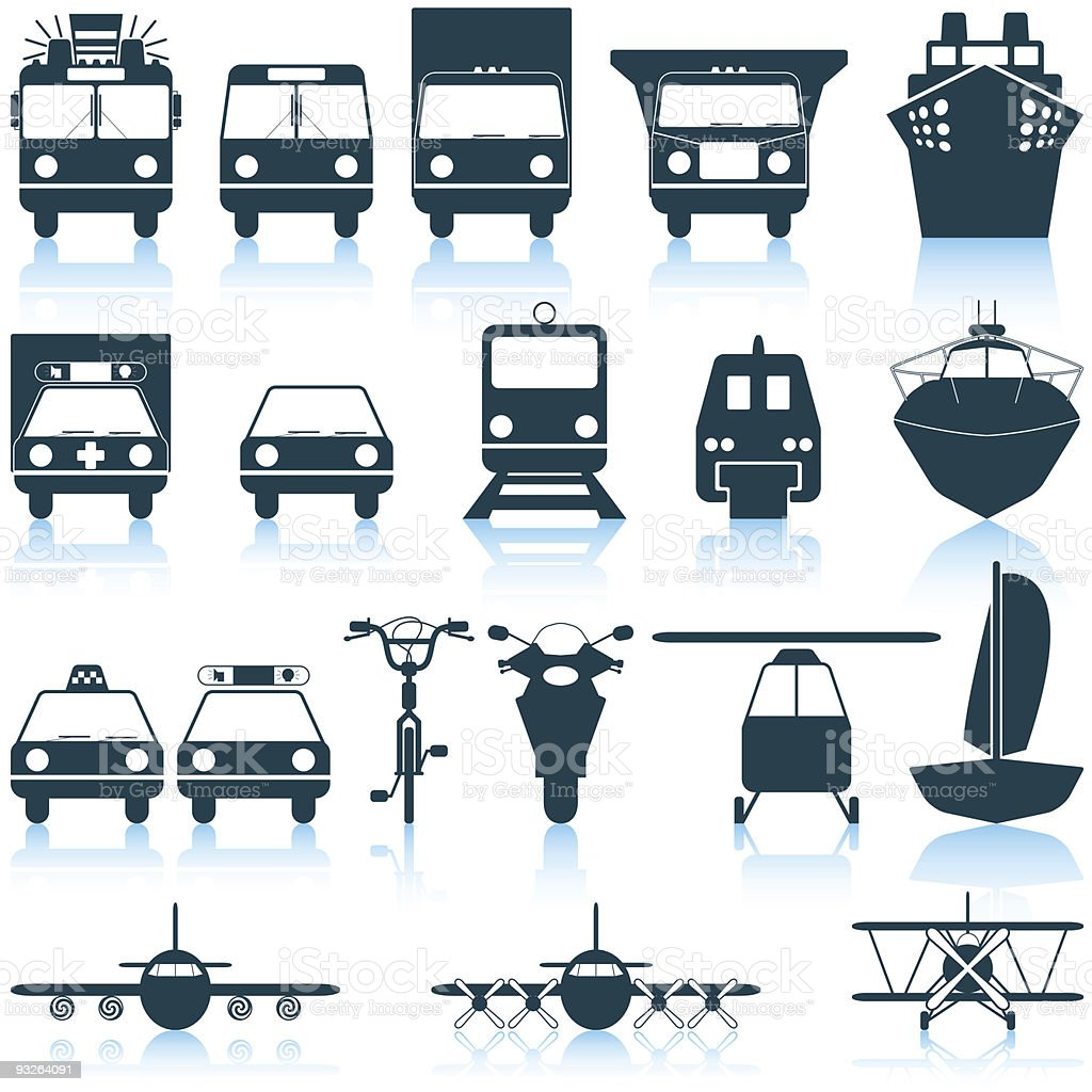 transportation icons set royalty-free stock vector art