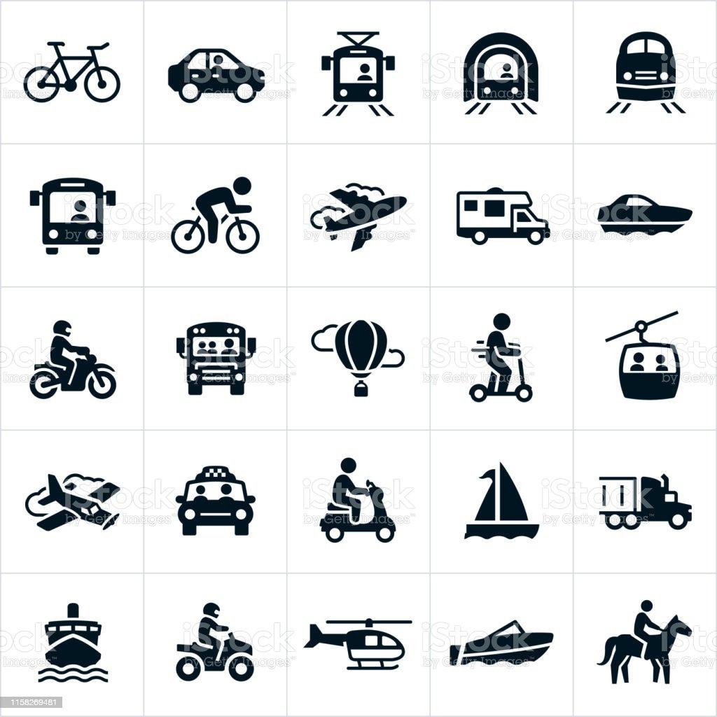 Transportation Icons - Векторная графика Автобус роялти-фри