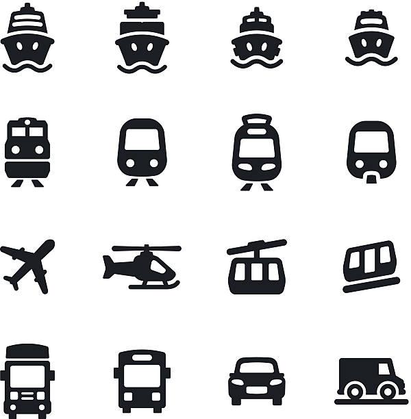 stockillustraties, clipart, cartoons en iconen met transportation icons - veerboot