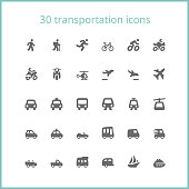 Vector illustration of transportation icons