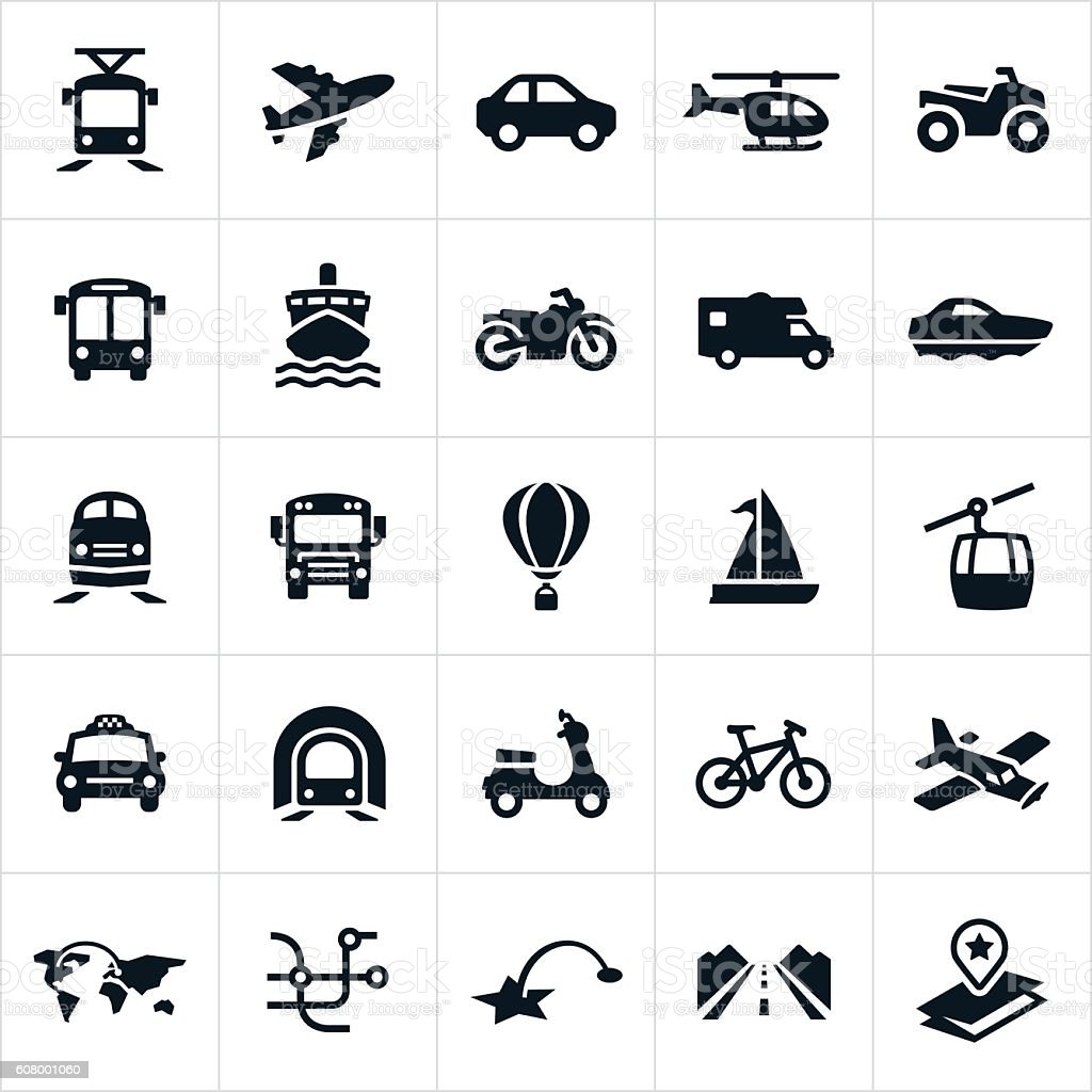 Transport Icons – Vektorgrafik