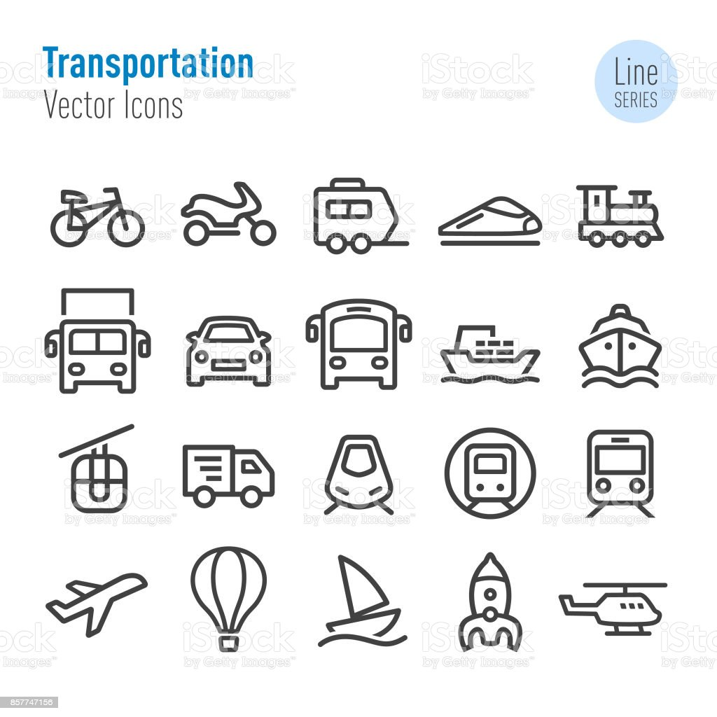 Transportation Icons - Vector Line Series vector art illustration