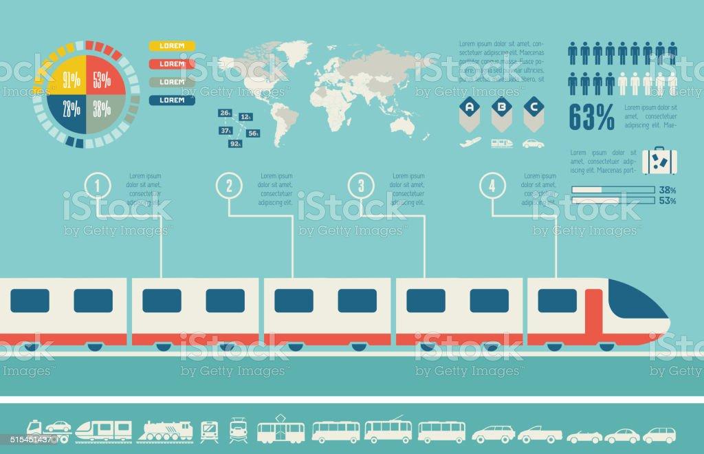 Transportation Infographic Template. vector art illustration