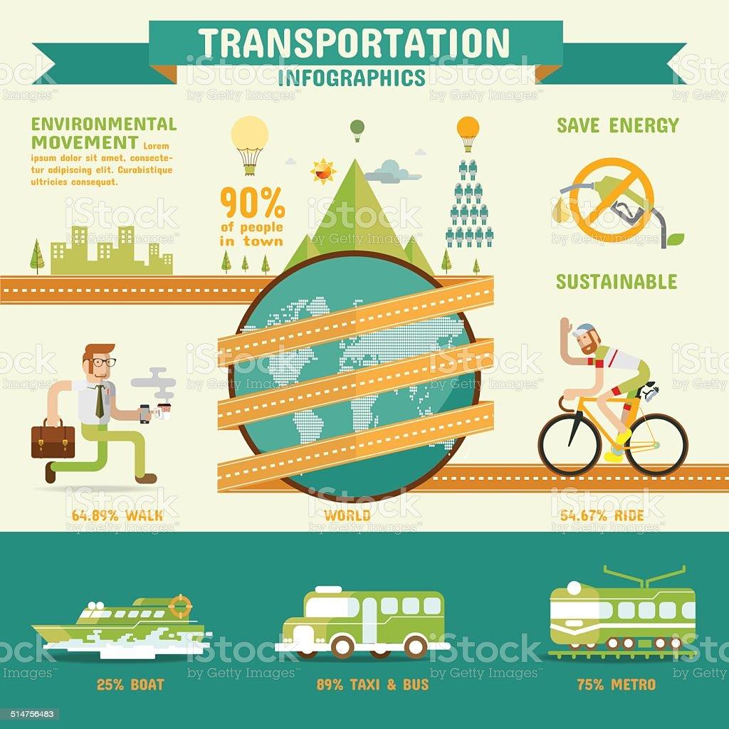 Transportation infographics. vector art illustration