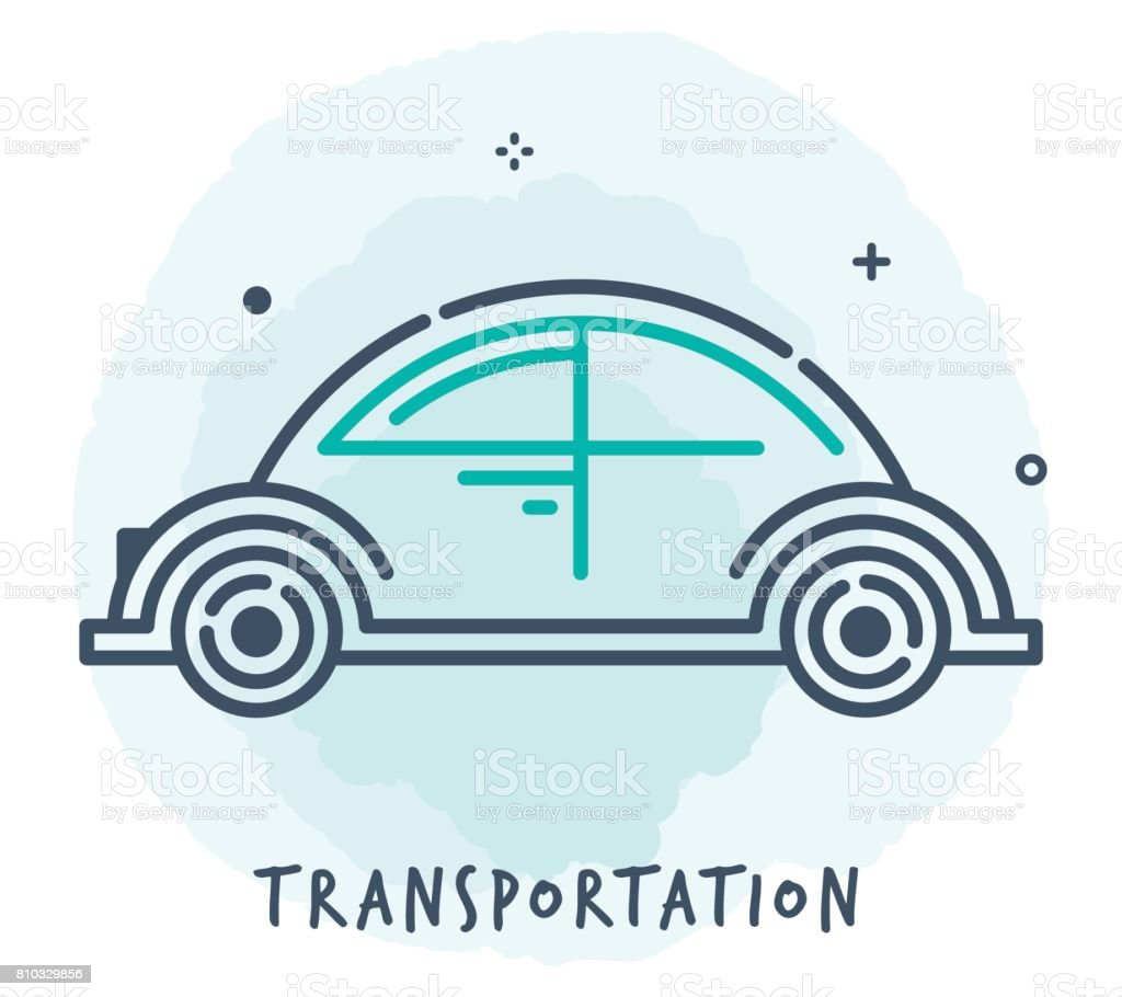 Transportation Line Icon vector art illustration