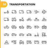 istock Transportation Line Icons. Editable Stroke. Pixel Perfect. For Mobile and Web. Contains such icons as Truck, Car, Vehicle, Shipping, Sailboat, Plane, Motorbike, Bicycle. 1193032662