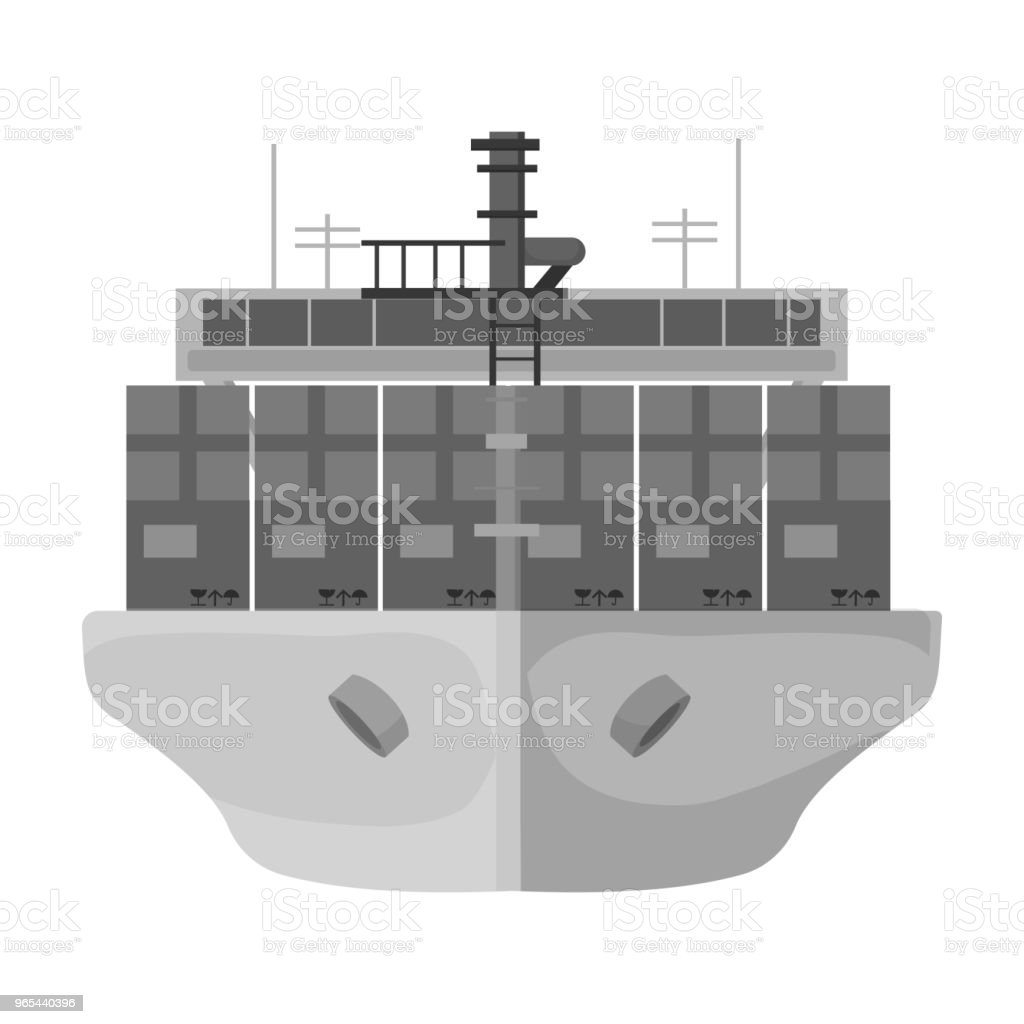 Transportation of goods by sea. Transportation and delivery single icon in monochrome style isometric vector symbol stock illustration web. royalty-free transportation of goods by sea transportation and delivery single icon in monochrome style isometric vector symbol stock illustration web stock vector art & more images of business
