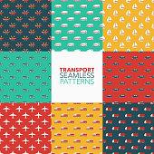 Transportation Seamless Pattern Set