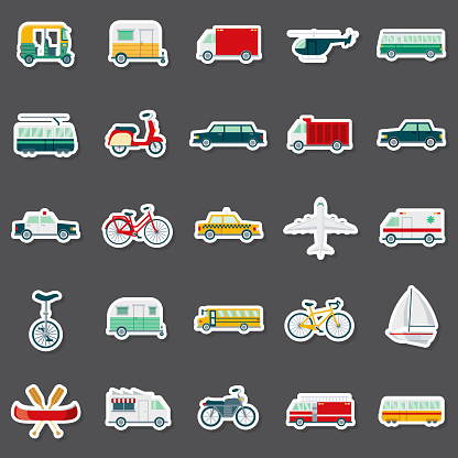 Transportation Sticker Set