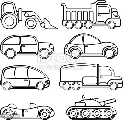 A collection of different kinds of transportation toys in sketch style. It contains hi-res JPG, PDF and Illustrator 9 files.