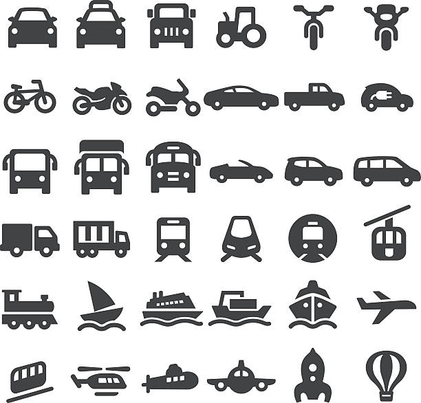 Transportation Vehicles Icons - Big Series View All: backgrounds clipart stock illustrations