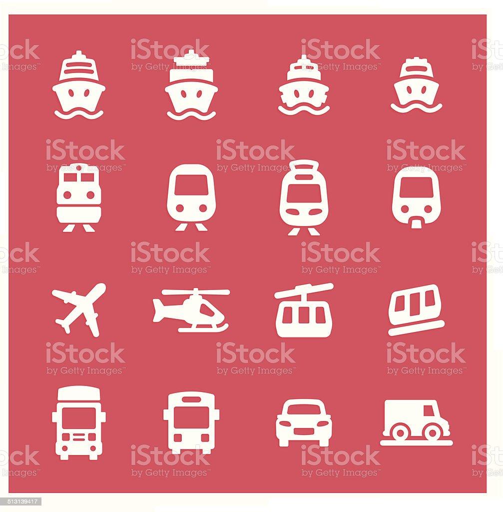 transportation_icons vector art illustration