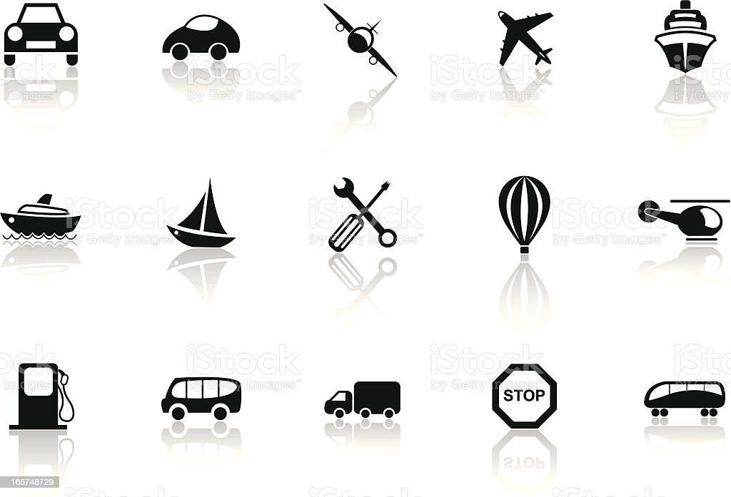 Transportation-Black collection royalty-free transportationblack collection stock vector art & more images of air vehicle