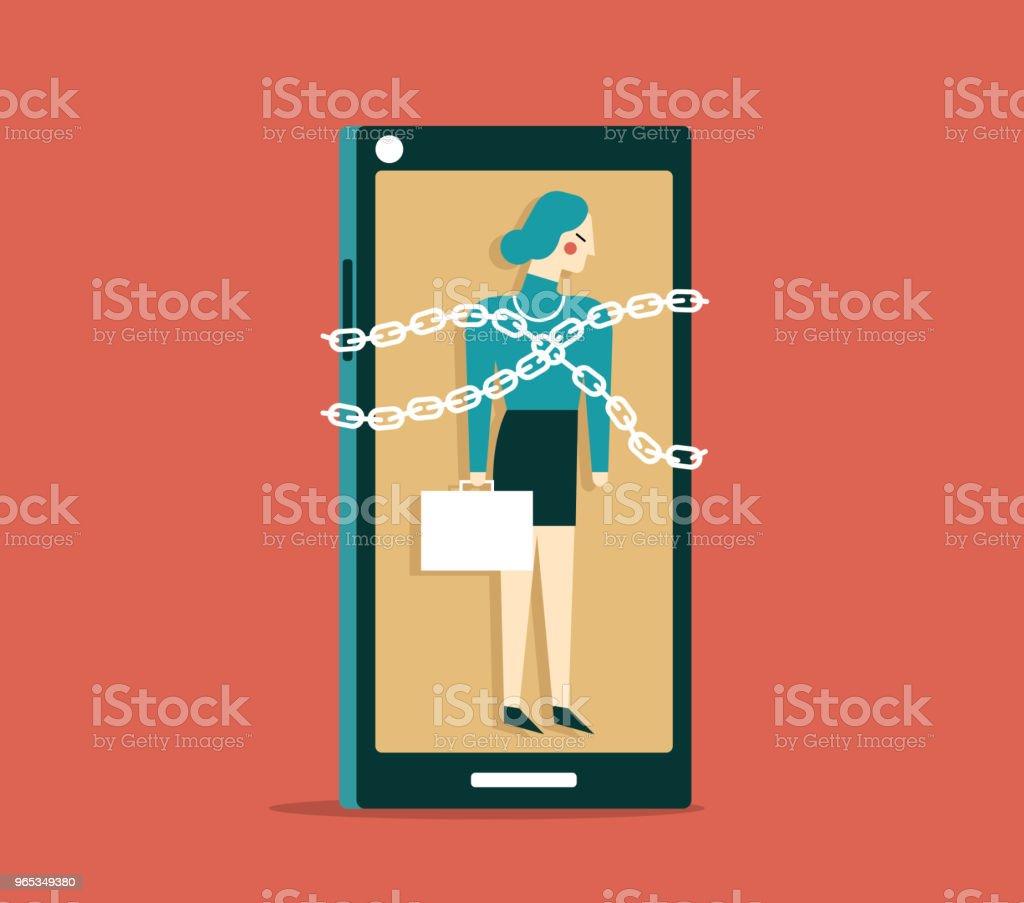 Pris au piège - femme d'affaires - clipart vectoriel de Abstrait libre de droits