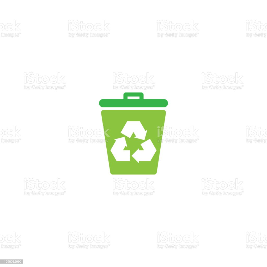 trash and recycle logo or icon vector design template stock vector