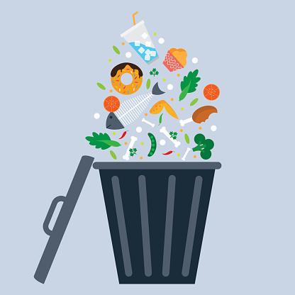 trash bin. eps 10 vector file