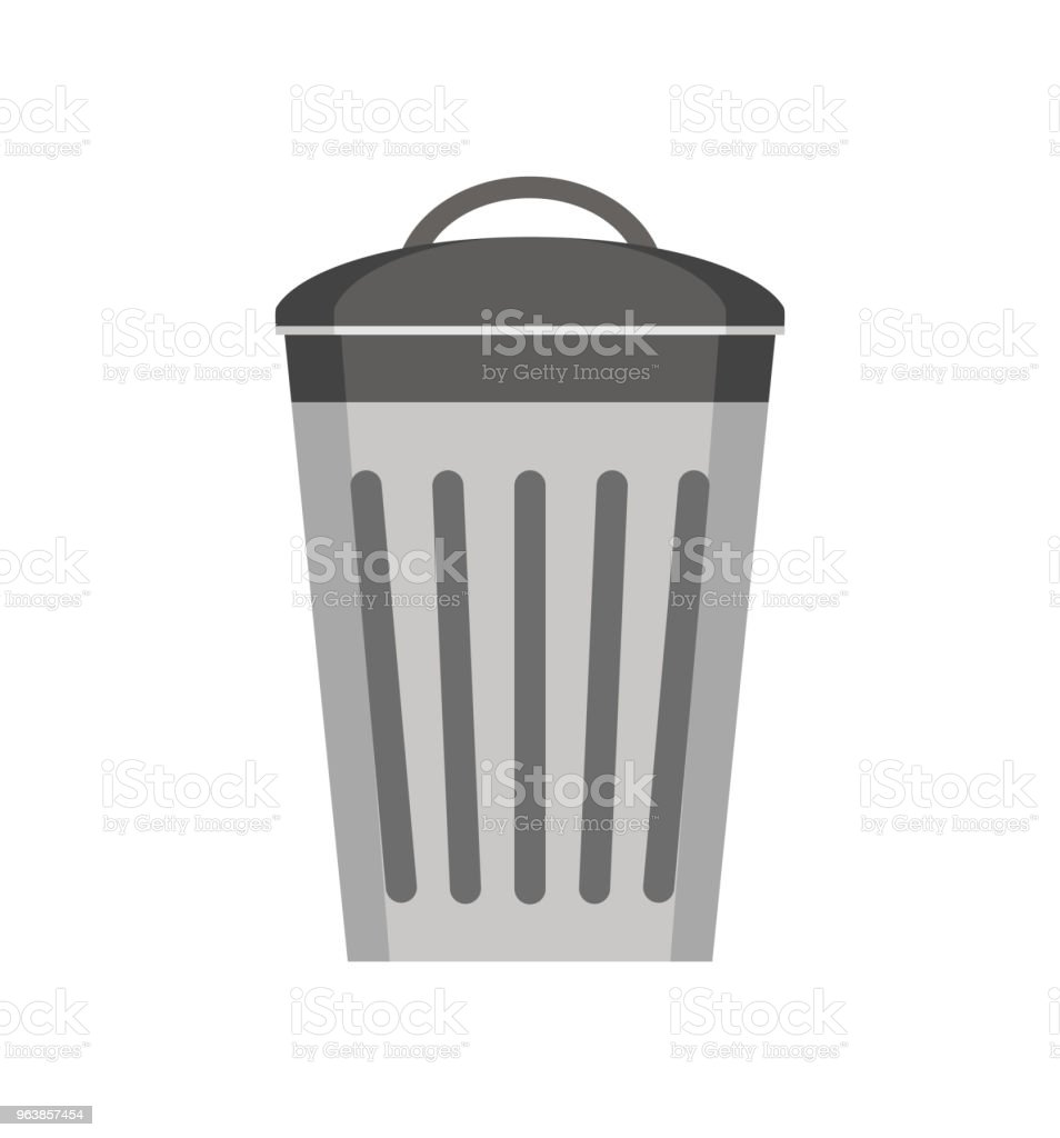 trash can icon isolated on white background. vector illustration. - Royalty-free Basket stock vector