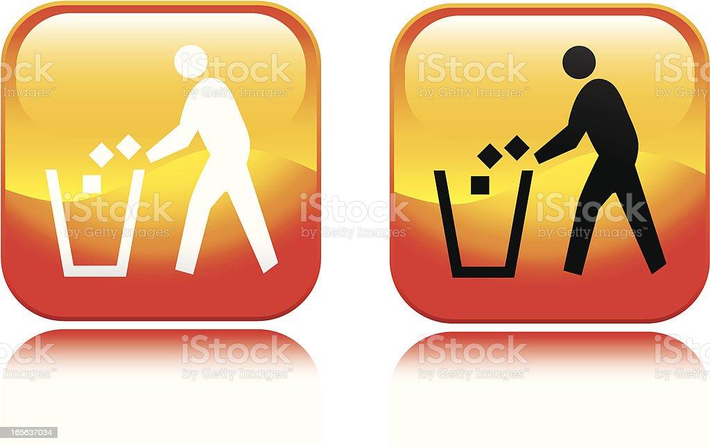 Trash Can Icon vector art illustration