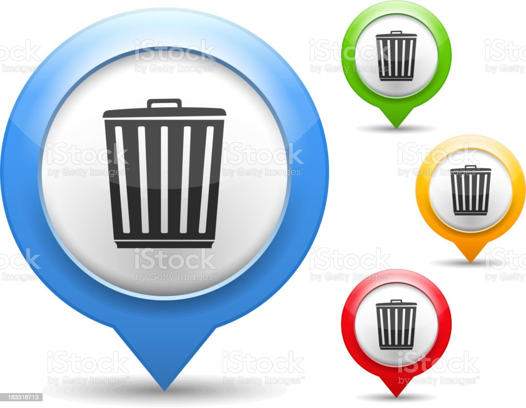 Trash Can Icon royalty-free stock vector art