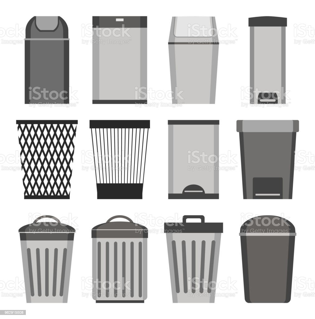 Trash can. set of icons. Isolated on white background. Vector illustration. royalty-free trash can set of icons isolated on white background vector illustration stock illustration - download image now