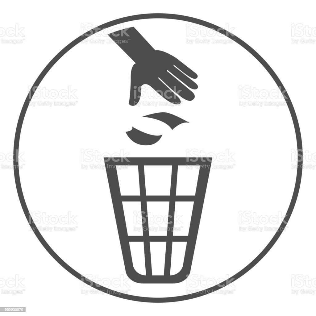 Vector Trash Litter Box Clip Art