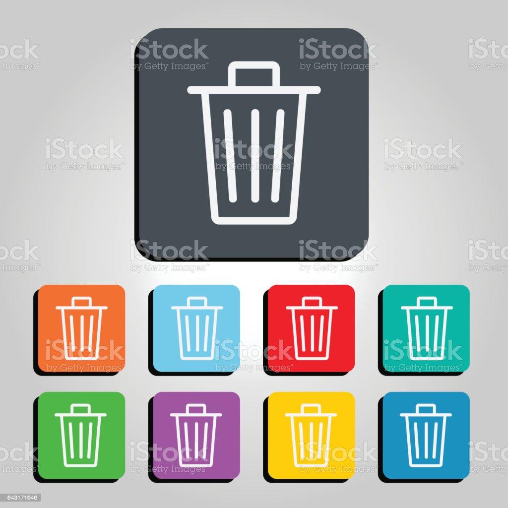 Trash Can Vector Icon Illustration vector art illustration