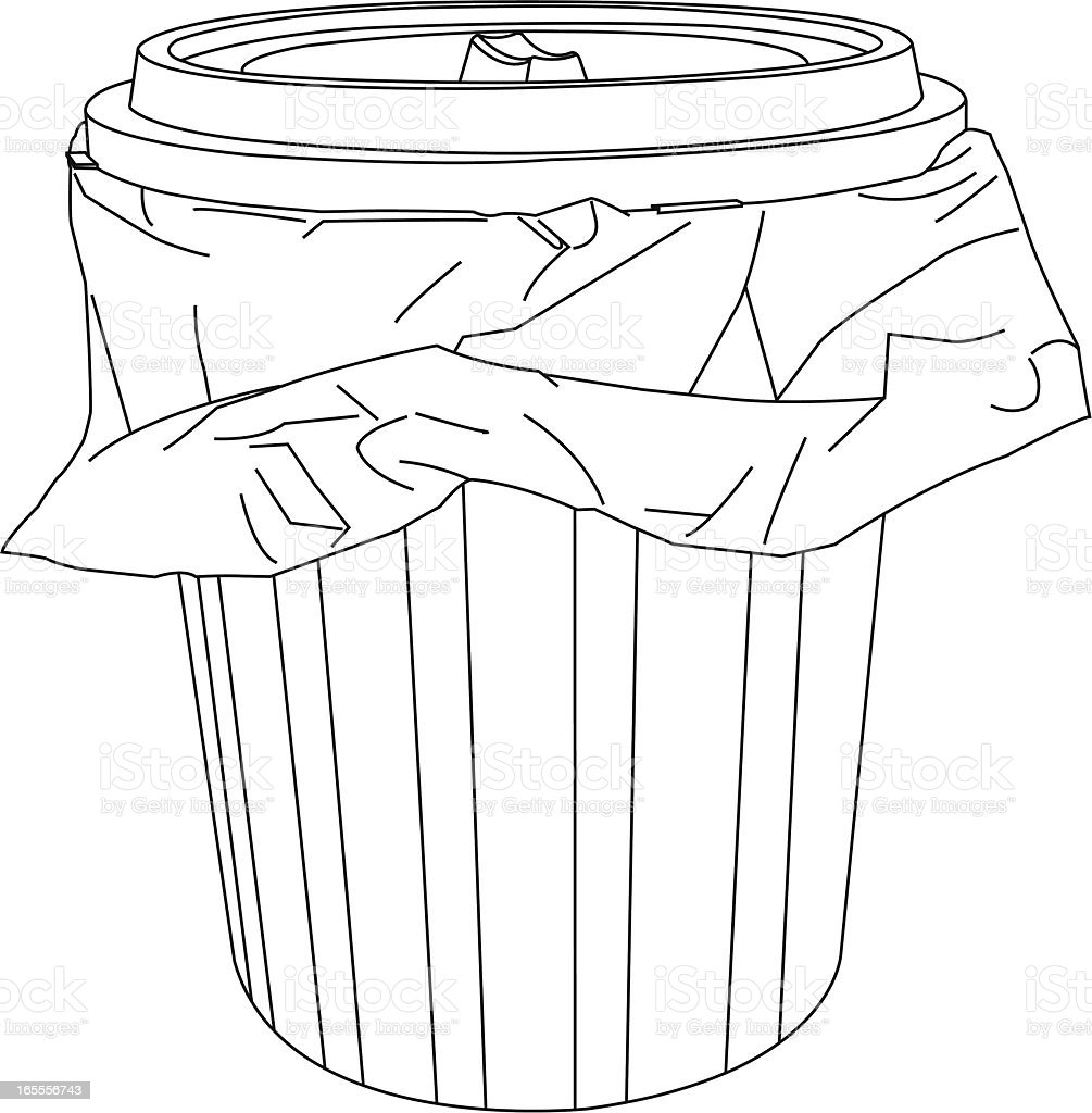 Trash Can royalty-free trash can stock vector art & more images of clip art