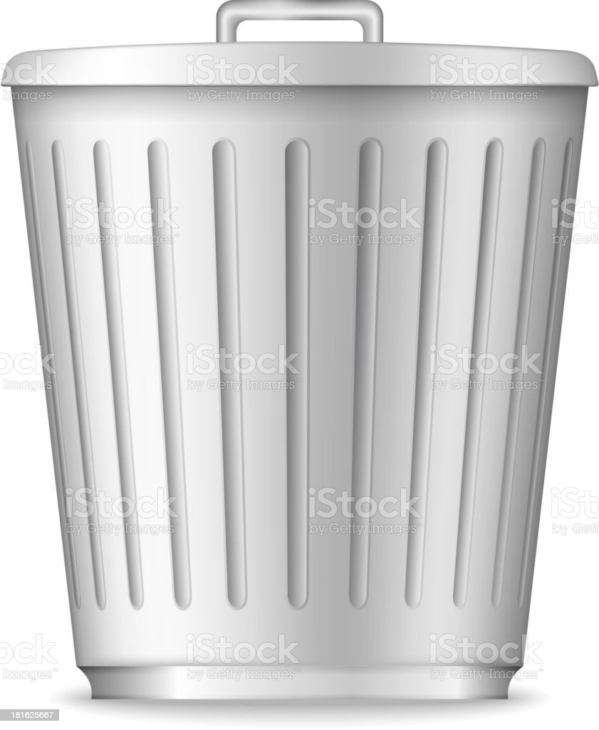 Trash Can royalty-free stock vector art