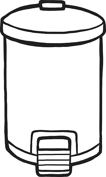 White Garbage Kitchen Can Clipart
