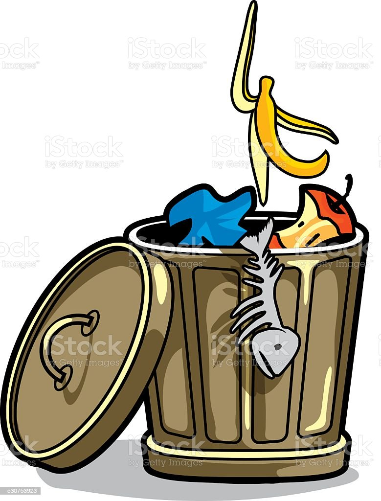 royalty free garbage can clip art vector images illustrations rh istockphoto com clipart trash bin clipart trash can