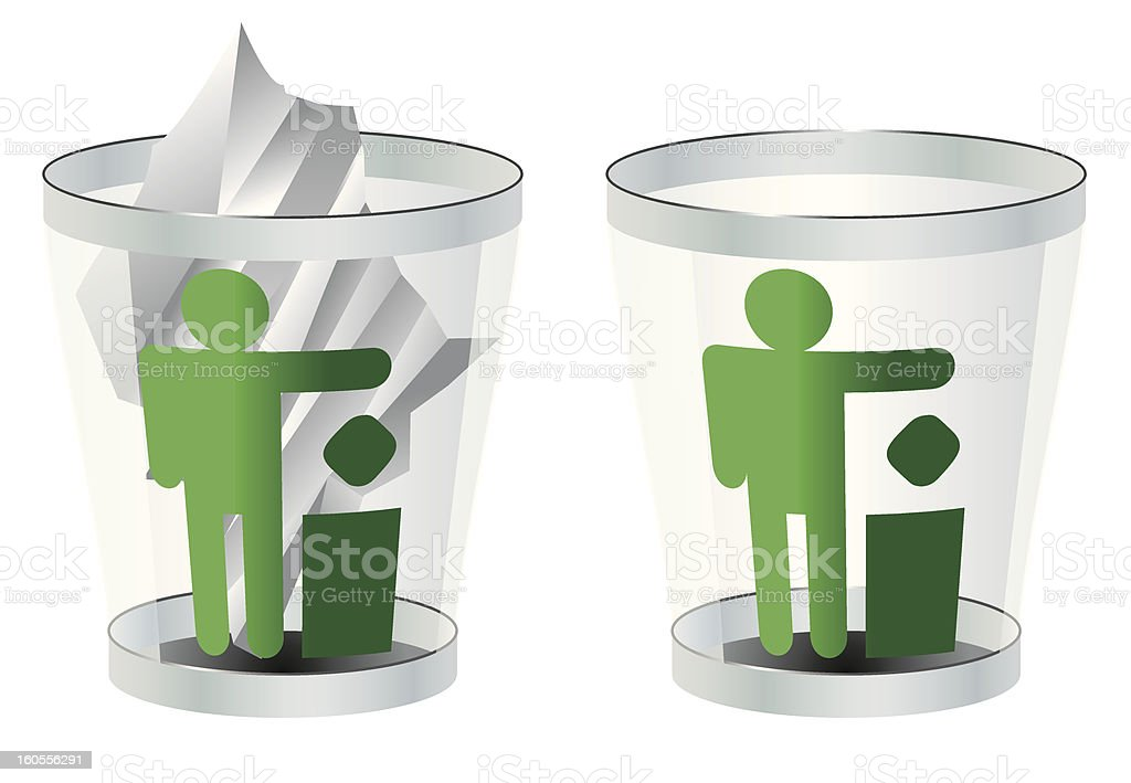 trash can vector royalty-free stock vector art