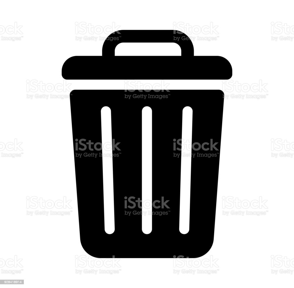 trash can,garbage can,rubbish bin icon - Royalty-free Basket stock vector