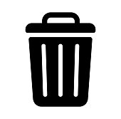 trash can,garbage can,rubbish bin icon